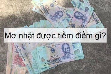 nằm mơ nhặt được tiền
